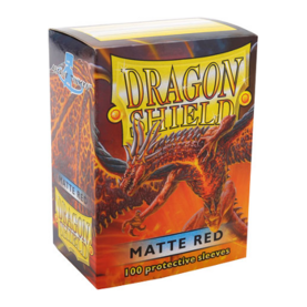 Dragon Shield Standard Card Sleeves - matte red