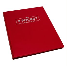 Blackfire 9 Pocket Card Album - Red