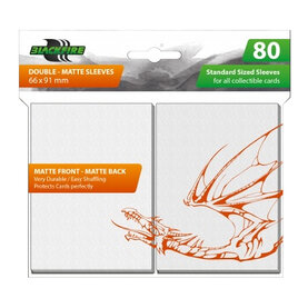Blackfire Sleeves - Standard Double-Matte White (80 Sleeves)