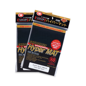 KMC Standard Sleeves - Hyper Mat Black (80 Sleeves)
