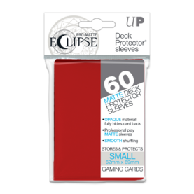 UP - Small Sleeves - PRO-Matte Eclipse - Apple Red (60 Sleeves)