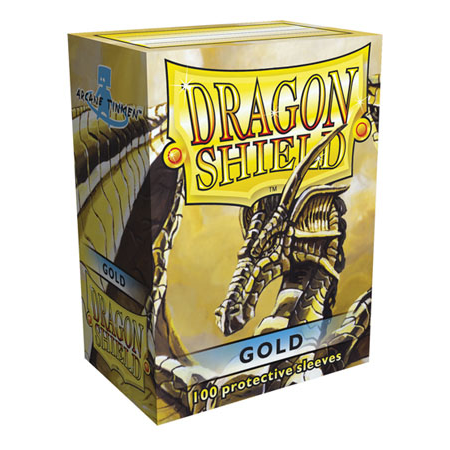 Dragon Shield Standard Card Sleeves - gold
