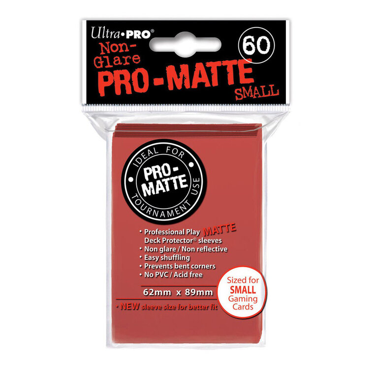 Pro-Matte Red Small Deck Protectors