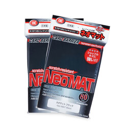 KMC Standard Sleeves - Neo Mat Black (80 Sleeves)