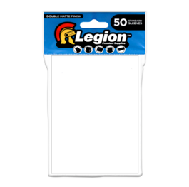 Legion - Matte Sleeves - White Double Matte Sleeves (50 Sleeves)