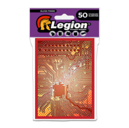 Legion - Gloss Standard Sleeves - Circuit - Red (50 Sleeves)